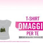 T-shirt omaggio da Carpisa