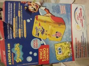 Zaino spongebob gratis con il concorso