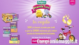 Carnet di coupon Pampers in omaggio
