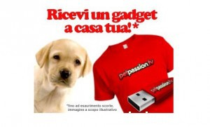 T-shirt o pen drive omaggio da Petpassion Tv