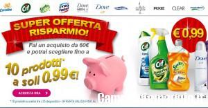 10 prodotti a 0,99 euro: offerta da Unilever