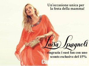Buono sconto Luisa Spagnoli