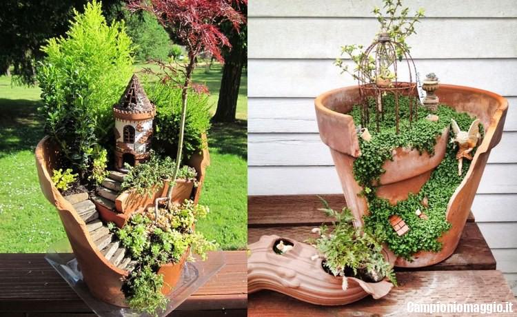 Come trasformare un vaso rotto in un grazioso micro - Vasi con piante grasse ...