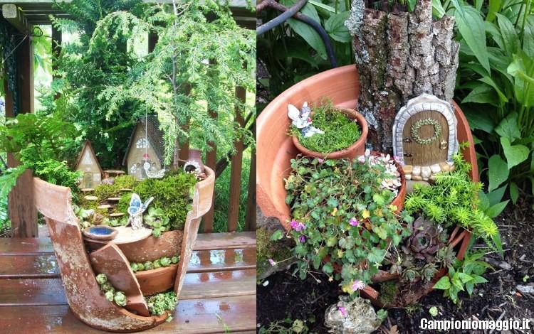 Come trasformare un vaso rotto in un grazioso micro for Creazioni giardini