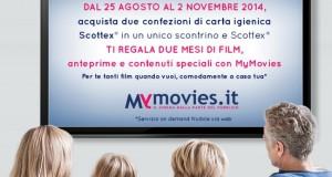 Scottex ti regala due mesi di film gratis