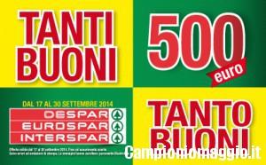 Buoni sconto Despar: risparmia fino a 500 euro