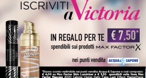 Coupon sui cosmetici Max Factor