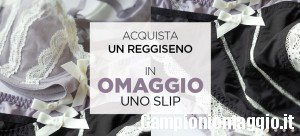 Golden Point: acquista un reggiseno in omaggio lo slip