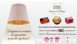 10 euro di sconto su Lovethesign con Ferrero
