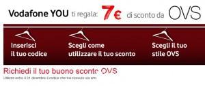 Vodafone YOU: Buono spesa OVS da 7€