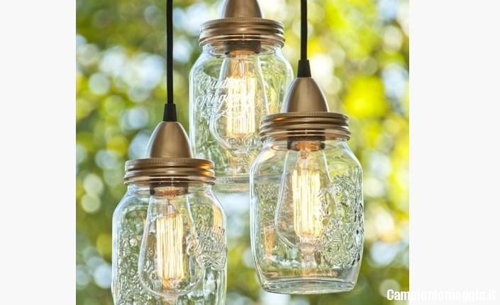 Come creare una lampada con i barattoli delle conserve campioni omaggio - Barattoli vetro ikea ...