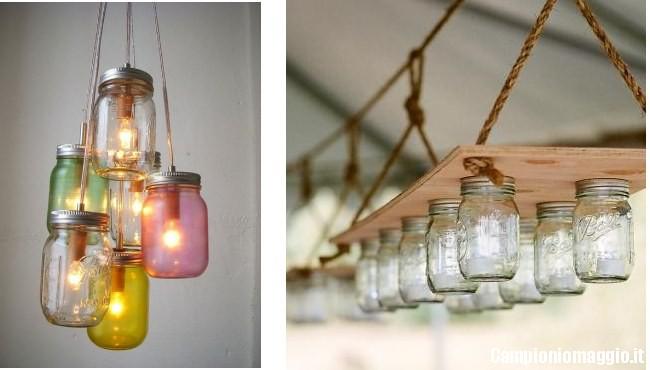 Lampada Barattolo Vetro : Come creare una lampada con i barattoli delle conserve