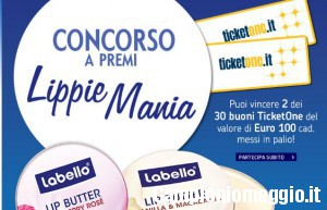 Concorso Labello: vinci ticket one da 100 euro