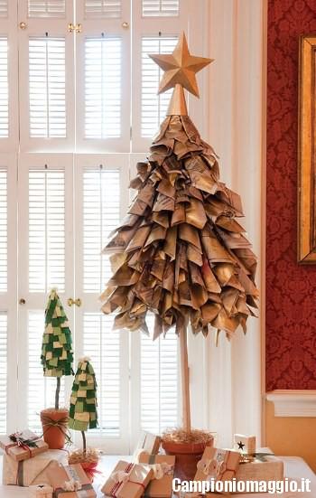 Albero Di Natale Moderno Fai Da Te.Alberi Di Natale Fai Da Te Economici Ed Ecologici Campioniomaggio