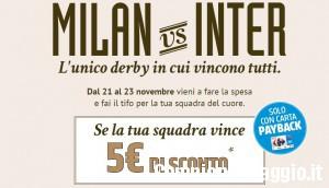 Carrefour Milano: fai il tifo per il derby e ricevi un coupon