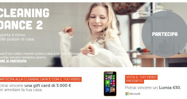 Partecipa alla cleaning dance e vinci una gift card di 3.000 €