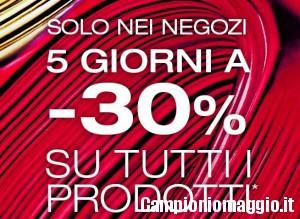 20/24 dicembre: -30% nei negozi Kiko