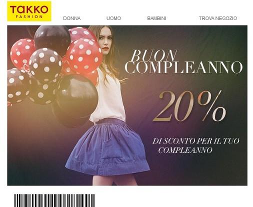 d66d62d97eb9 Takko Fashion ha invito un buono sconto del 20% da utilizzare in negozio  mostrando questa newsletter in cassa al momento del pagamento.