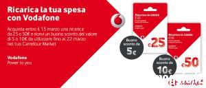 Carrefour Market: ricarica la tua spesa con Vodafone