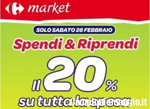 Spendi e riprendi 20% da Carrefour Market