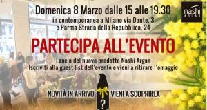 Milano/Parma – 8 marzo: campioni omaggio Nashi Argan