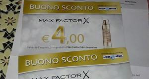 Buoni sconto Max Factor