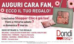 Dondi Home regala la shopper richiudibile (Emilia Romagna)