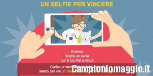 Magnete omaggio se scatti un selfie con il tuo animale