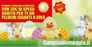 27/28/29 marzo: peluche gigante a 1 euro da ToysCenter con una spesa di 30 euro