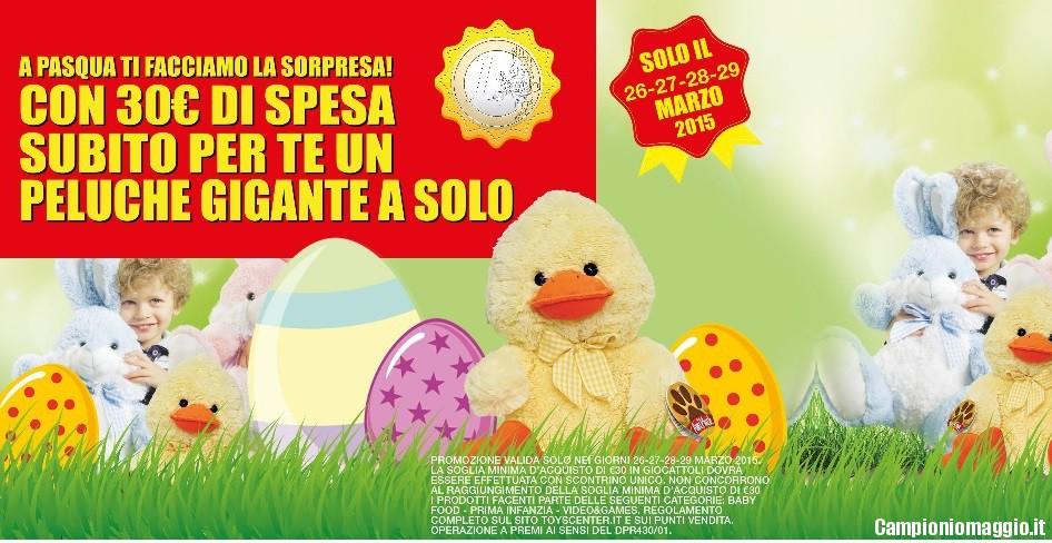 27 28 29 marzo peluche gigante a 1 euro da toyscenter con - Peluches a 1 euro ...