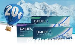 Lenti a contatto: buono sconto Dailies di 20 euro