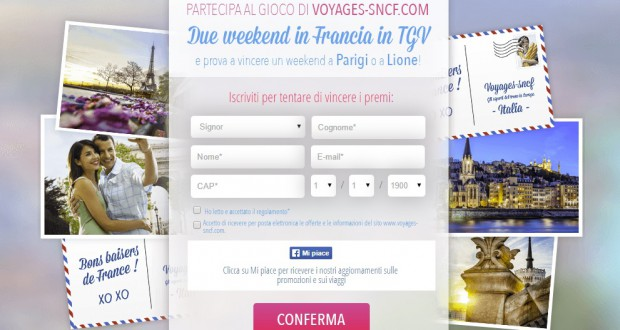 Vinci un week-end in Francia sul TGV!