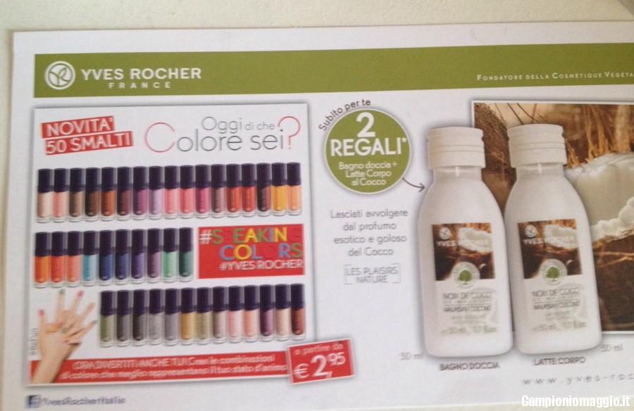 Yves rocher bagno doccia e latte corpo omaggio campioni omaggio coupon e - Bagno doccia yves rocher ...