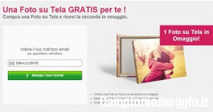 Photobox: compra una tela, la seconda è in omaggio