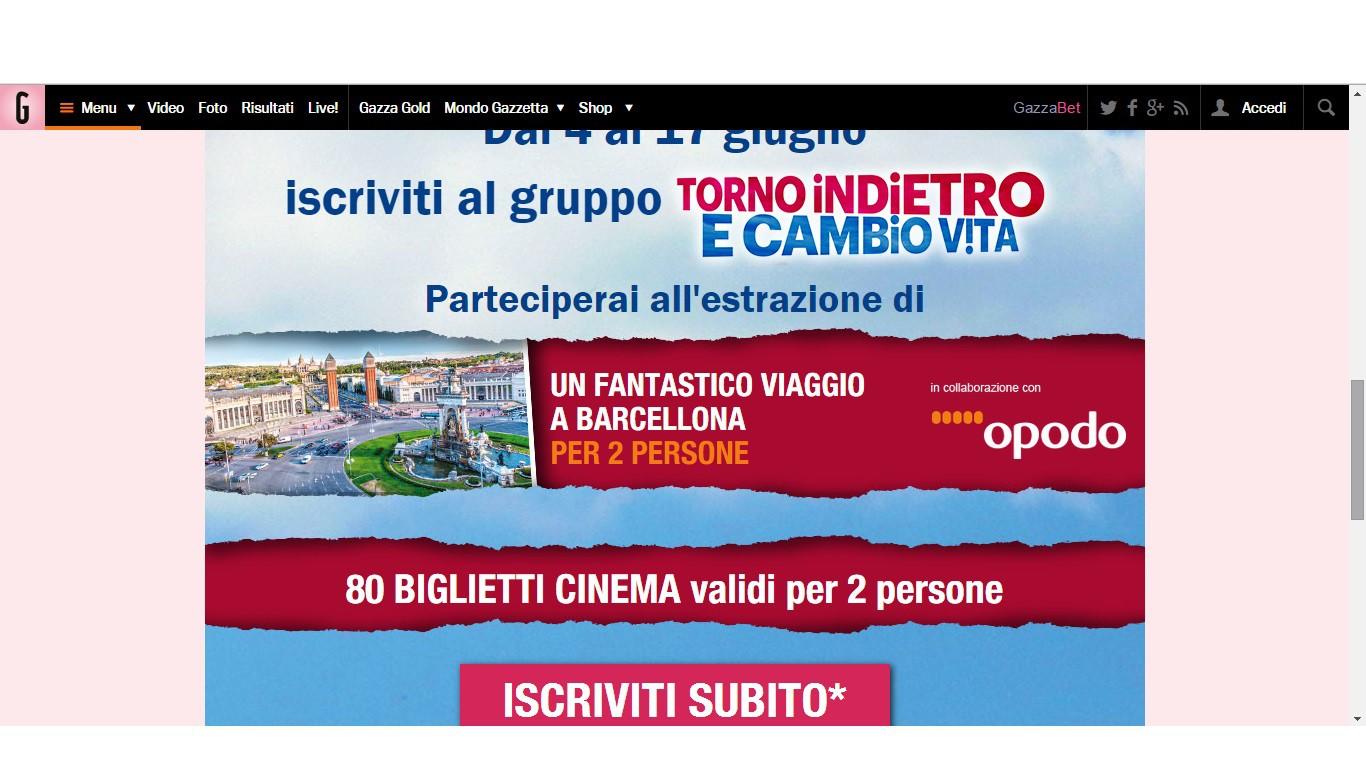 Vinci un viaggio a barcellona e 80 biglietti per il cinema for Viaggio a barcellona