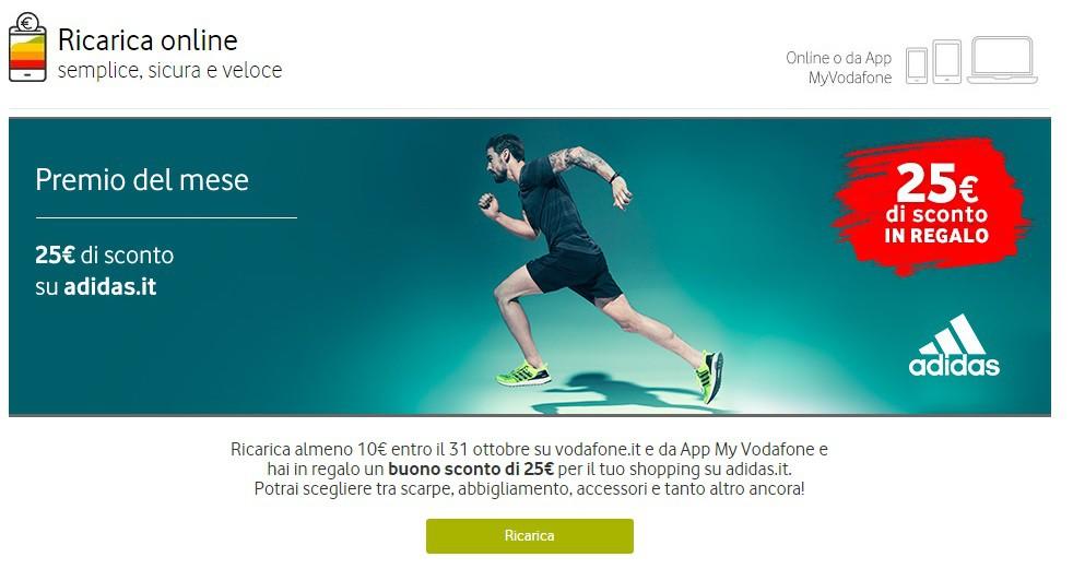 0952ea5605da3 Vodafone Campioniomaggio 25€ Per Adidas Regalo Ottobre Premio In ABvB1