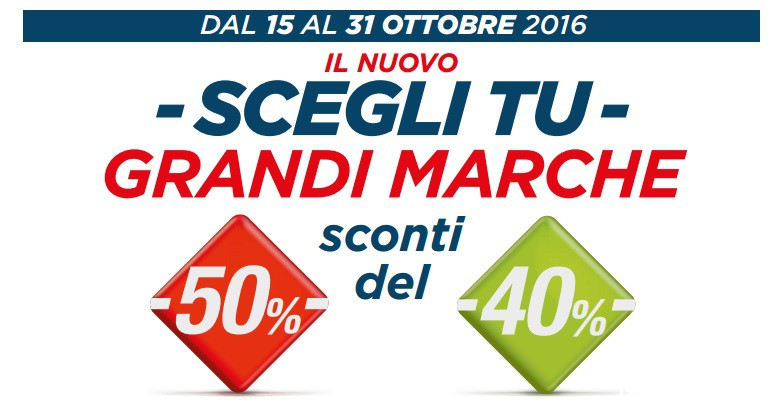 new style 578e6 dce26 Sconto Grandi Marche Coop del 40% e 50% | CampioniOmaggio.it ...