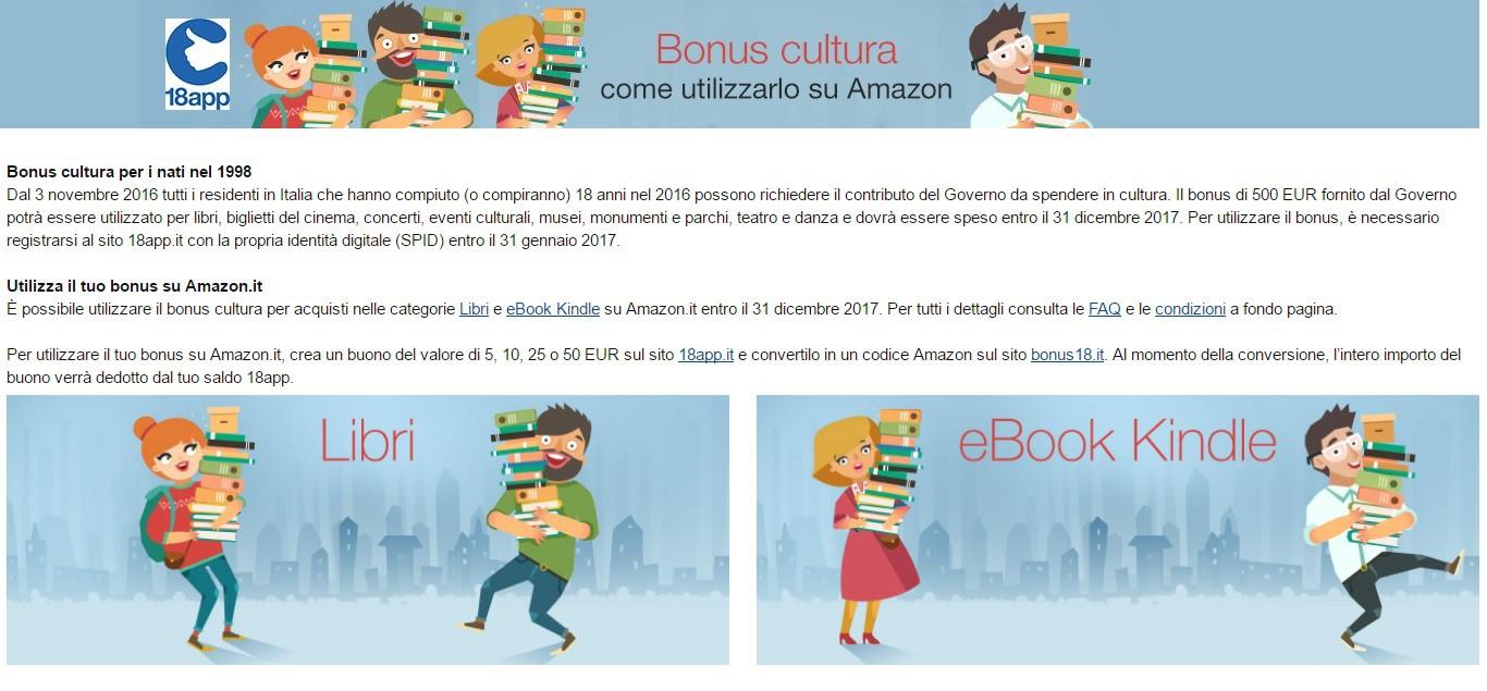 Convertire buoni 18app amazon for Coupon libri amazon