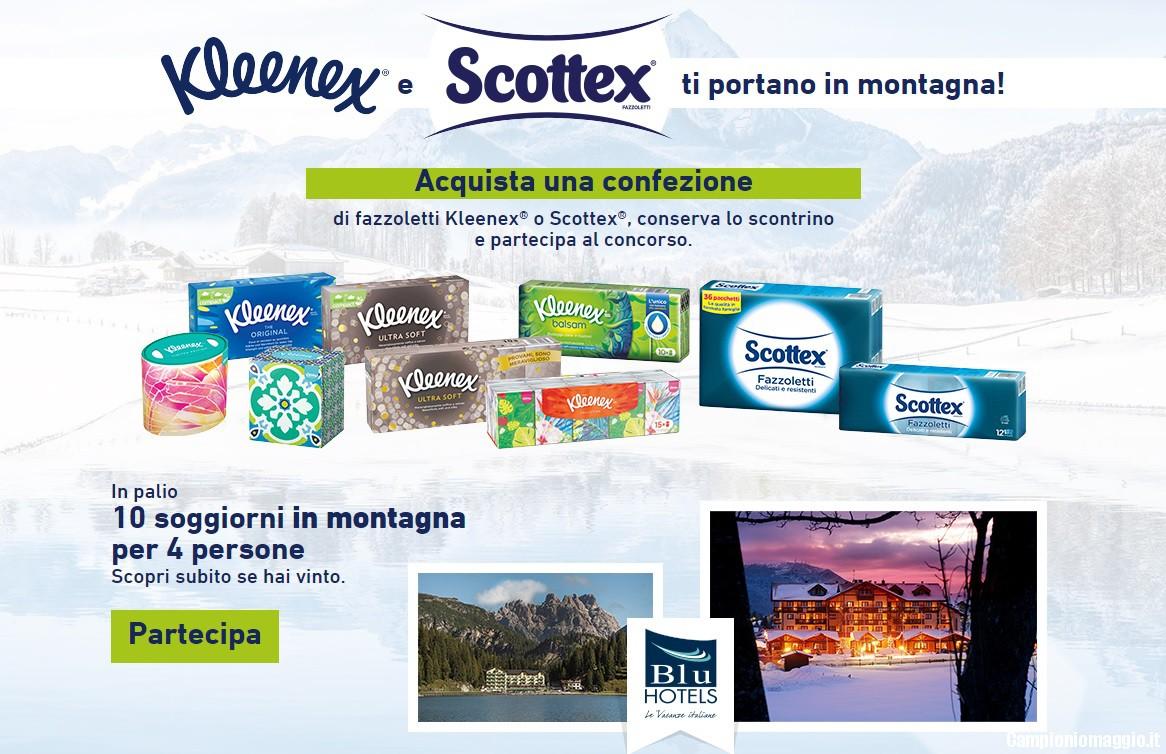 Kleenex e Scottex ti regalano soggiorni in montagna ...