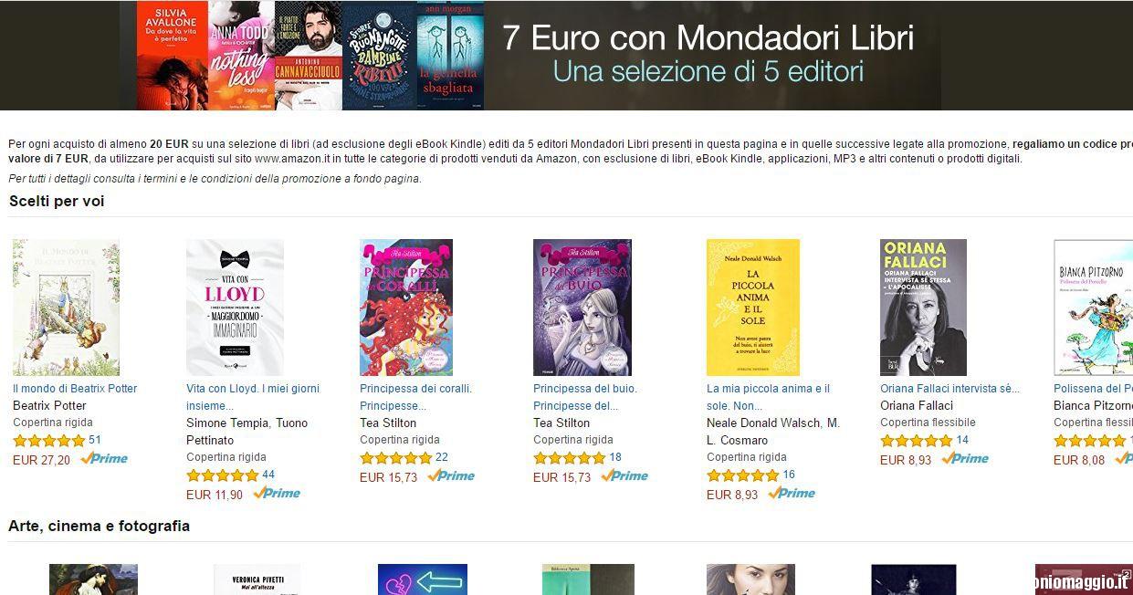 Buono amazon con i libri mondadori for Coupon libri amazon