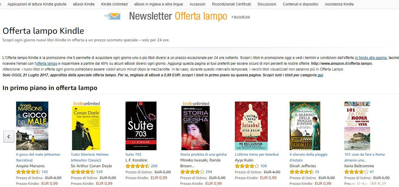 Amazon newsletter offerta lampo