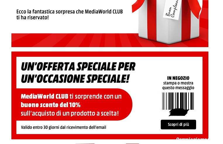 Coupons mediaworld