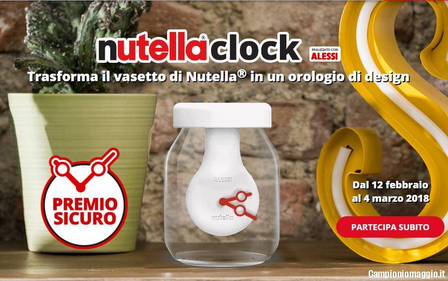 Lampada Barattolo Nutella Concorso : Orologio nutella: richiedi il premio certo campioniomaggio.it